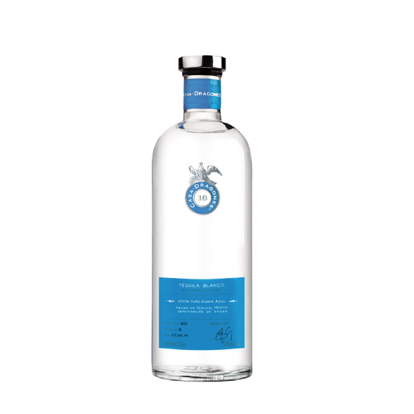 TEQUILA CASA DRAGONES BLANCO 750 ML